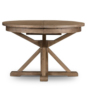 Cintra Reclaimed Wood Extending Round Kitchen Table 47""