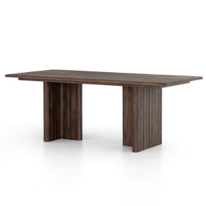 """Lineo Rustic Reclaimed Wood Dining Table 80"""""""