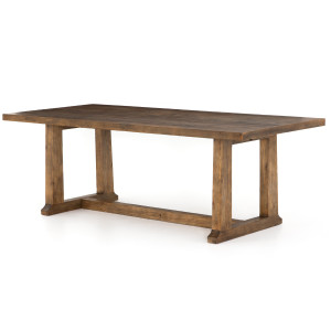 """Otto Campaign Reclaimed Wood Dining Table 87"""""""