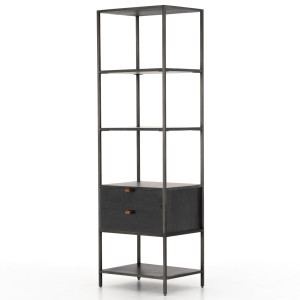 Fulton Trey Black Industrial Modular Bookshelf