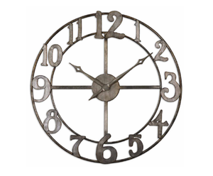 Delavan Large Metal Wall Clock
