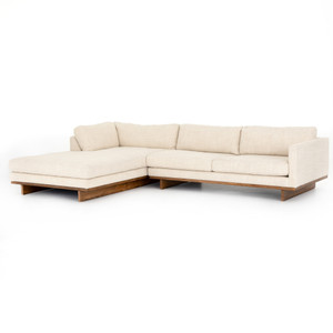 Everly Taupe Upholstered 2-Piece Sectional Sofas