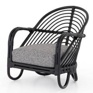Marina Woven Ebony Rattan Chair - Graphite