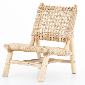 Thatcher Woven Cane Teak Wood Accent Chair