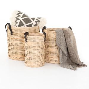 Ember Woven Natural Rattan Baskets (set Of 3)