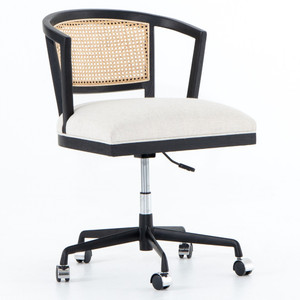 Alexa Woven Cane Back Office Desk Chair