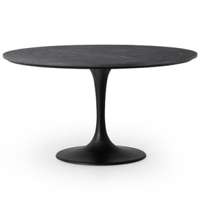 Aero Tulip Bluestone Top Round Dining Table 55""
