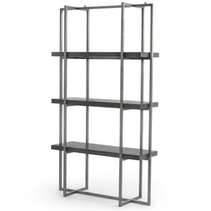 "Putnam Iron Frame Bluestone Shelf Bookcase 47"""