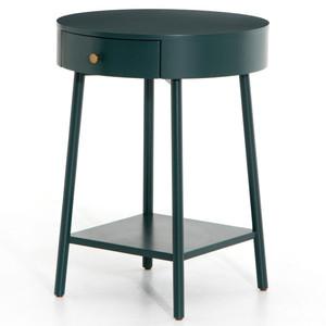 Van Modern Juniper Green Round Nightstand