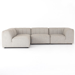 Gwen Channel Tufted Modular 4 PC Outdoor Sectional Sofa