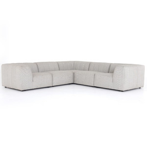 Gwen Channel Tufted Modular 5 PC Outdoor Corner Sectional