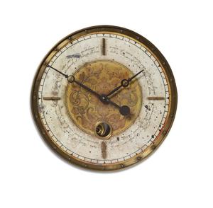"Leonardo Script Cream 18"" Pendulum Wall Clock"