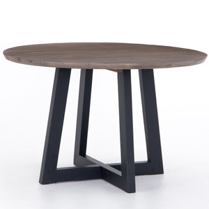 Pryce Reclaimed Wood Round Dining Table 47""