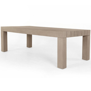 Sonora Brown Teak Wood Outdoor Dining Table 87""