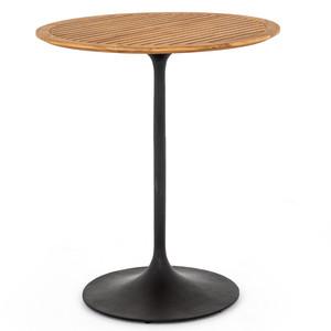 "Reina Teak Top Tulip Base Outdoor Counter Table 32"""