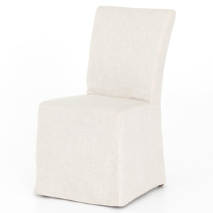 Vista Parsons Ivory Slipcovered Dining Chair