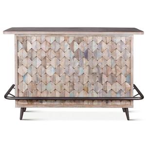 Shabby Chic Vintage Reclaimed Teak Bar Cabinet