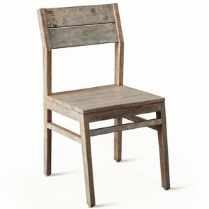 Shabby Chic Vintage Reclaimed Teak Dining Chair, Set of 2