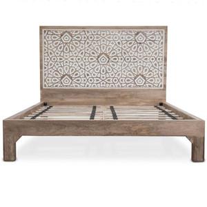 Marrakesh Solid Wood Handcarved King Bed