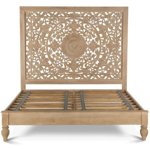 Andalusia Solid Wood Handcarved Queen Bed