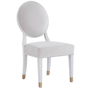 Love Joy Bliss Velvet Round Back Side Chair