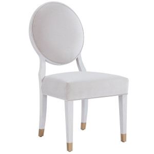 Love Joy Bliss Velvet Round Back Side Chair