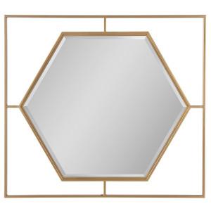 Love Joy Bliss Gold Frame Accent Mirror