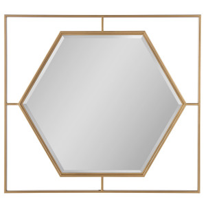 Love Joy Bliss Gold Frame Accent Mirror