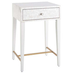 Love Joy Bliss Mother of Pearl Bedside Table