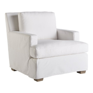 Malibu White Slipcover Chair