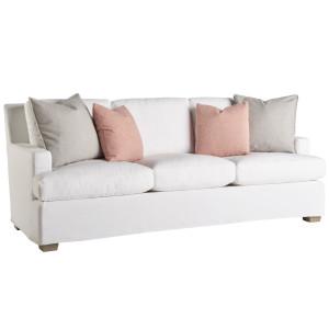 """Malibu White Slipcover Sofa 88"""""""