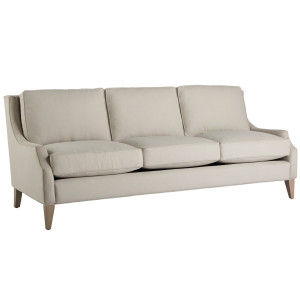 Manhattan Beige Upholstered Sofa 85""