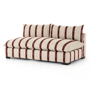 Grant Armless Sofa Sectional Pieces Zella Garnet