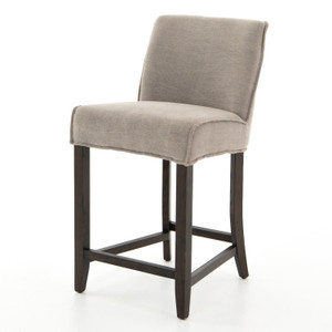 Aria Heather Twill Stone Counter Stool