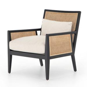 Antonia Brushed Ebony  Cane Chair
