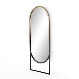 Dawson Ombre Brass Floor Mirror