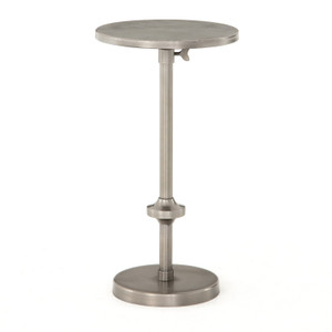 Eileen Adjustable Antique Pewter Accent Table