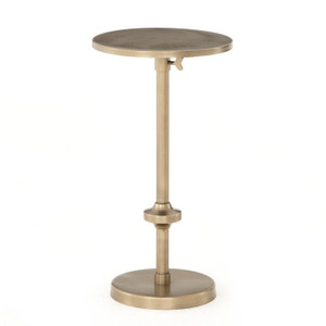 Eileen Adjustable Antique Brass Accent Table