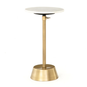 Bree Adjustable Antique Brass Accent Table