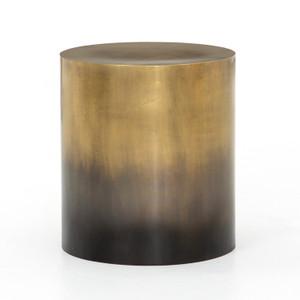 Cameron Ombre Antique Brass End Table