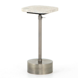 Ronan Antique Pewter Accent Table