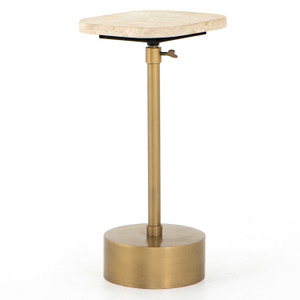 Ronan Antique Brass Accent Table