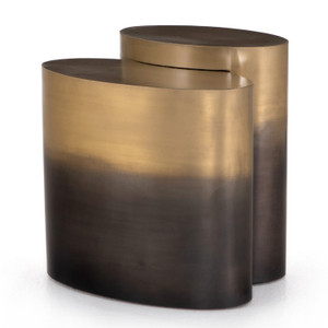 Cameron Nesting Ombre Antique Brass End Tables