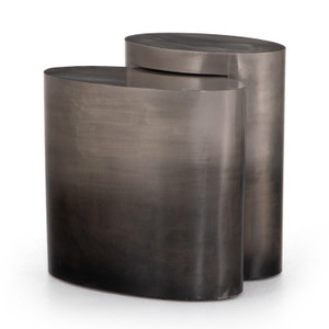 Cameron Nesting Ombre Antique Pewter End Tables