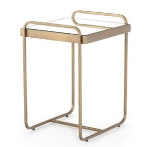 Roark Antique Brass End Table