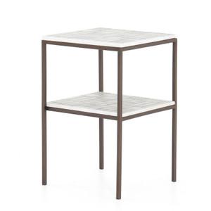 Piet Marble Bronze Nightstand