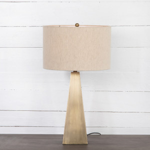 Leander Dark Antique Brass Table Lamp