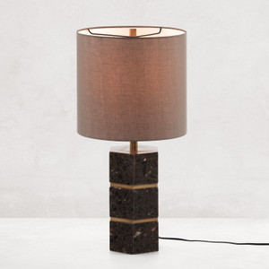 Amelie Antique Brass Table Lamp