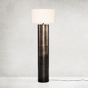 Cameron Ombre Antique Pewter Floor Lamp