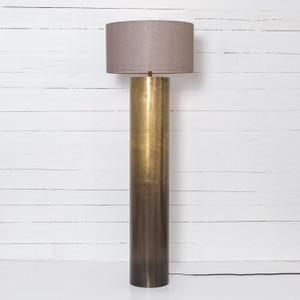 Cameron Ombre Antique Brass Floor Lamp